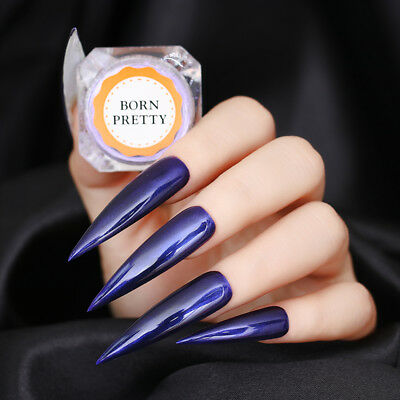 Purple Pearl Nail Powder Mirror Nail Art Chrome Pigment Dust Born Pretty
