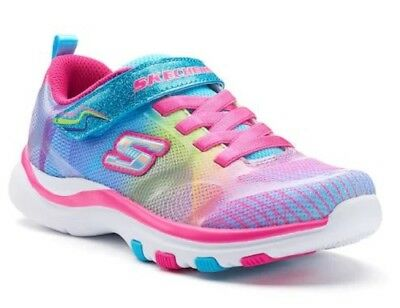 Skechers Youth Girl/'s Athletic Shoes Blue//Multi #80126L 13S4 z NEW