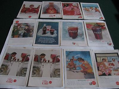 Lot Of 12 Coke Ads 10 X 7  National Geographic Back Covers Coca Cola  Zenith
