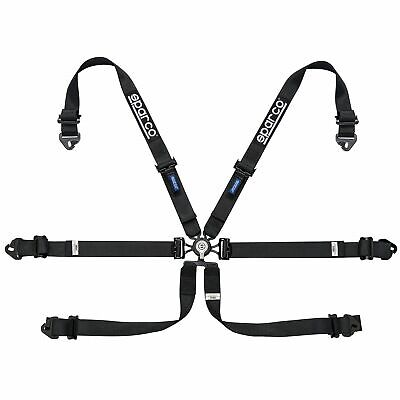 Sparco Endurance 6 Point FHR Saloon Car Race Racing Harness In Black