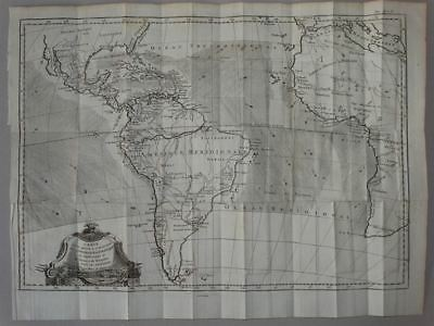 South America Atlantic Amerika - Kupferstich Karte engraving map Bonne 1770