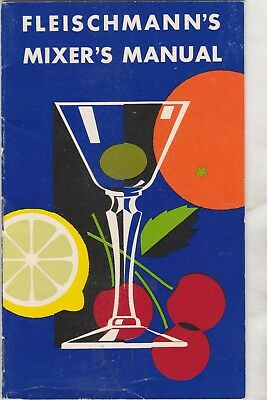 Fleischmann's Mixer's Manual-Whiskey, Gin, And Scotch Recipes-1950's
