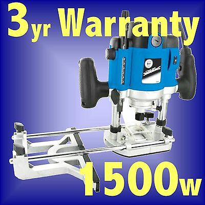 Silverline 1500w 1/2 Electric Plunge Router cutter INC 1/2 1/4 8 12mm Collets