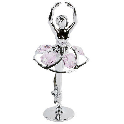 Crystocraft Silver plated Ballerina with Pink Crystals lovely gift SP272