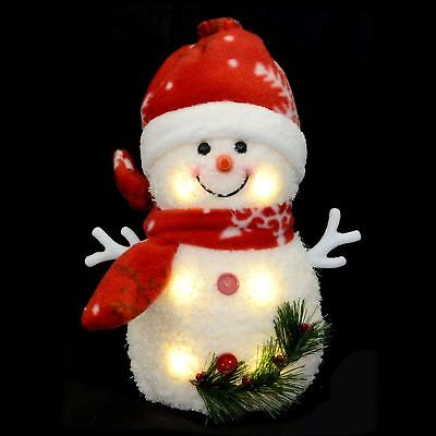New Light Up Snowman Warm White LEDs Snowflake Christmas Xmas Decoration Figure