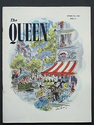 The Queen Magazine 7 October 1953 Fashion Style Social Adverts