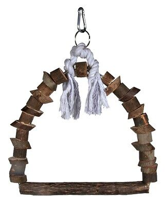 Trixie Wooden Small Medium Bird Cage Arch Swing -  Natural - 2 Sizes