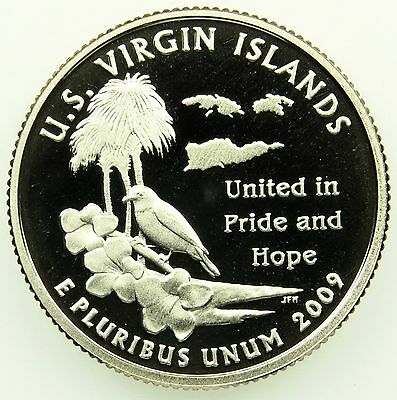 2009 S Deep Cameo Clad Proof U.S. Virgin Islands Washington Quarter (B04)