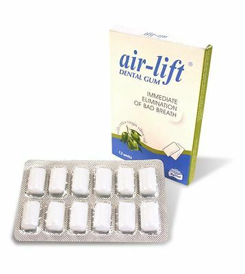 Air Lift Dental Gum Immediate Elimination Of Bad Breath Sugar Free 12 Units