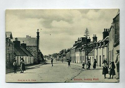 GOLSPIE   View looking West  with groups of people / rows of houses