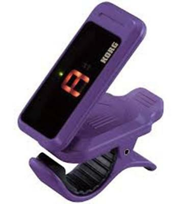 Korg PitchClip Clip-On Chromatique Accordeur - pour guitare ou basse - Violet