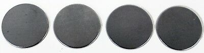 "2 1/4"" Dia Flat Metal Plates Discs Round 1/16"" Thickness STEEL 18 ga Blanks DP2s"