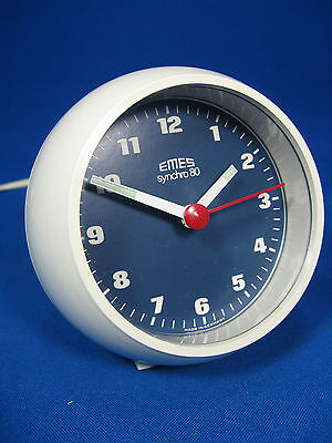 "70´s Pop Art Design ""ball"" alarm clock #  EMES synchro 80  # Weckuhr # working"