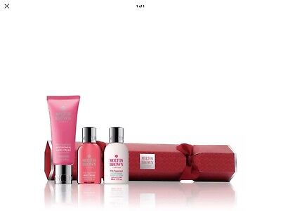MOLTON BROWN Pink Pepperpod Christmas Cracker Gift Set -Wash/Lotion/Hand Cream
