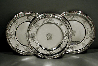 Towle Sterling Dinner Plates    (12)  c1930       * NEO-CLASSICAL *     175 OZ.