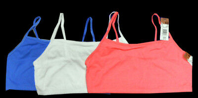5b17033f0a699 NWT 3 PC FRUIT of THE LOOM Sport Bra Tank 9036 spaghetti strap Pk ...