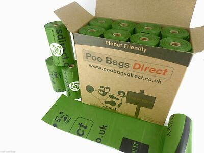 PooBagsDirect 240 Oxo-Biodegradable Dog Poo Bags / 16 Rolls Dog Waste Bags