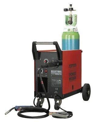 Sealey Professional Gas/No-Gas MIG Welder 210 Amp with Euro Torch Garage Tools