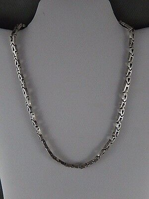 Mexican sterling silver solid and heavy fancy link necklace TM-297 Sterling 925