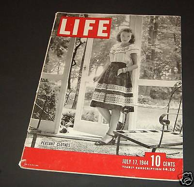 July 17, 1944 LIFE Magazine WWII Old ads Ad, FREE SHIPPING 7 44 18 19 20 21 22