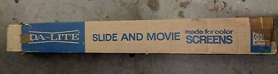 Vintage Da-Lite Made for Color Silver Slide and Movie Screen with Box