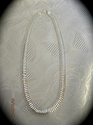 "925 Sterling Silver 17"" Fancy Chain Necklace   #N177"