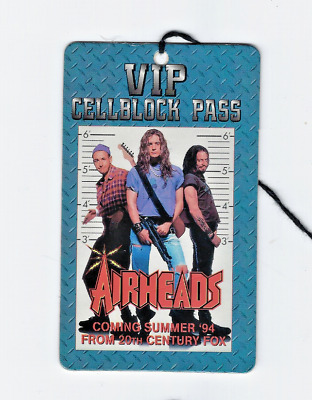 Airheads Movie Promo  VIP Cellblock Pass Take No Prisoners Tour 1994
