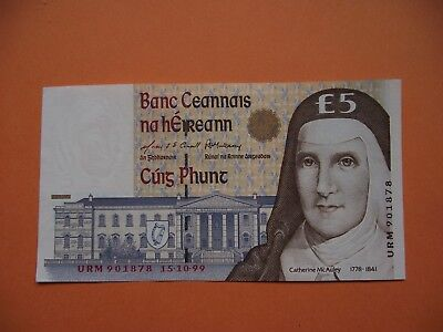 IRLAND. BANK of IRELAND. UNC £5 POUNDS BANKNOTE (15.10.1999) Letztes Datum!