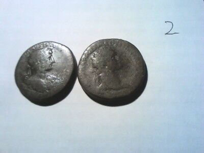 2 Unresearched Roman Sestertius hoard coins these are the last
