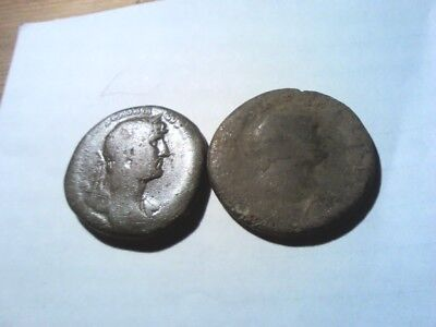 2 Unresearched Roman Sestertius hoard coins these are the last ones