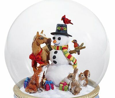 Breyer Horses Christmas Holiday A Gathering of Friends 2017 Musical Snow Globe