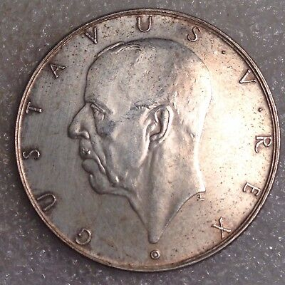 Sweden 2 Kronor  ND(1938) G Silver - Settlement of Delaware