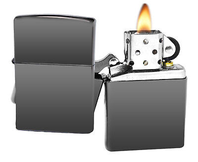 Zippo 150 Black Ice Chrome Lighter + LPCB Brown Leather Pouch Clip