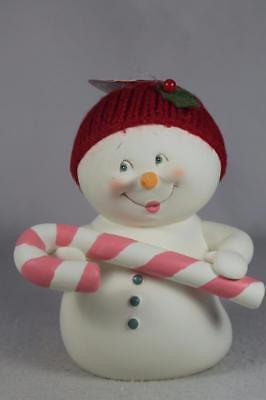 Dept 56 Snowpinions Snowman 'Holiday Treats' With Candy Cane #4058928 NEW!