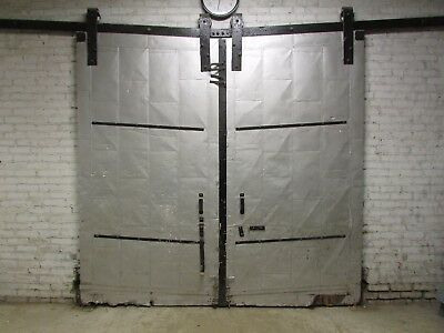 "Vintage Merchant Standard Tin-Clad Sliding Fire Doors 100"" Tall x 2.5"" X 52.5"""