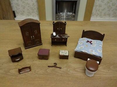 Sylvanian Families rare 1980's master bedroom furniture bundle. Calico Critters.