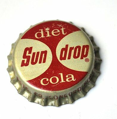 Diet Sun Drop Cola Kork Kronkorken USA 1960er Bottle Cap Cork Lined Caps