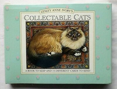 LESLEY ANNE IVORYS COLLECTABLE CATS - A Book to Keep &15 Different cards to send