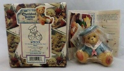 """Cherished Teddies by ENESCO - #476722 Marty """"I'll Always Be There"""" - 1998 - NEW"""