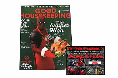 Good Housekeeping DEADPOOL 2 Movie Magazine - SIGNED BY ROB LIEFELD + COA