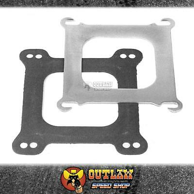 Edelbrock Carby Adaptor Plate Square To Spread Bore For Edel Manifolds - Ed2732
