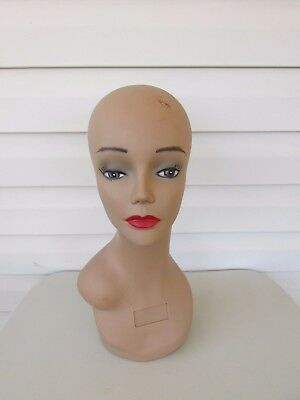 Hand Painted Female Mannequin Head for Wig Jewelry Glasses and Hat Display
