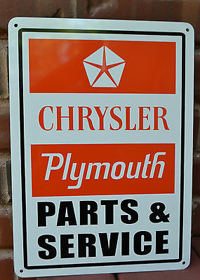 Plymouth Chrysler Parts Service SIGN Orange Hemi Mechanic Shop Advertising 10day