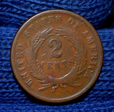 1867 Two-Cent Piece**FINE**Beautiful BROWN !!