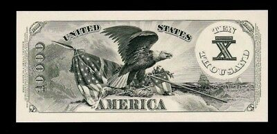 Proof Print or Intaglio Impression by BEP Back of 1878 $10,000 $10000 U.S. Note