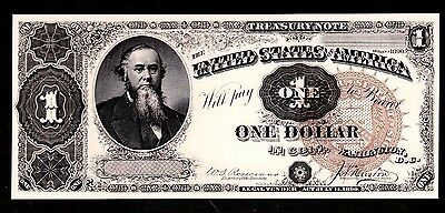 Proof Print or Intaglio Impression by BEP  Face of 1890 $1 Treasury Note