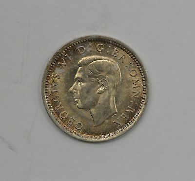 1942 Great Britain George VI 3D Three Pence - UNC *Q11