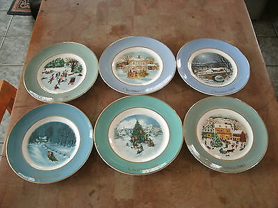 Avon Set of 6 Christmas Collector Plates 1975-1980 Enoch Wedgwood Tunstall EC
