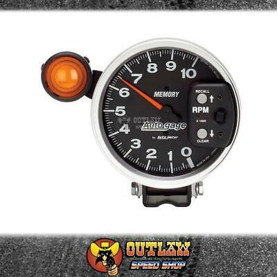 "Autometer 233906 Autogauge 5"" Monster Tacho 10,000 Rpm & Ext S/light & Memory"