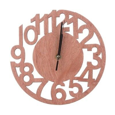 Modern Wooden Round Wall Clock Watches Living Room Home Office Decor Gift